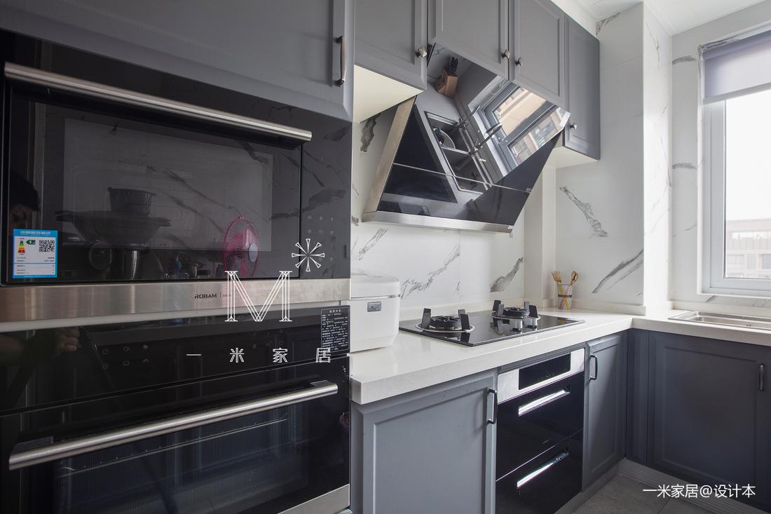 轻奢68平美式二居厨房装饰图片