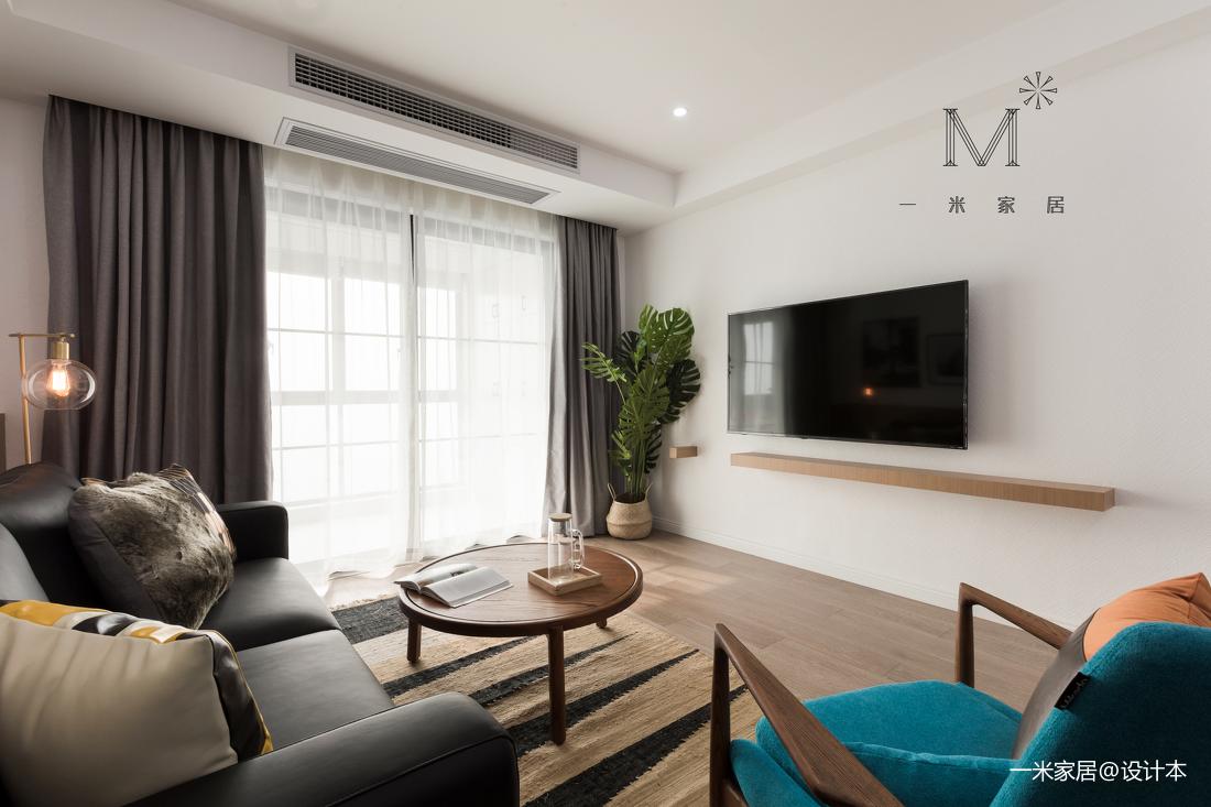 质朴65平北欧二居客厅设计美图