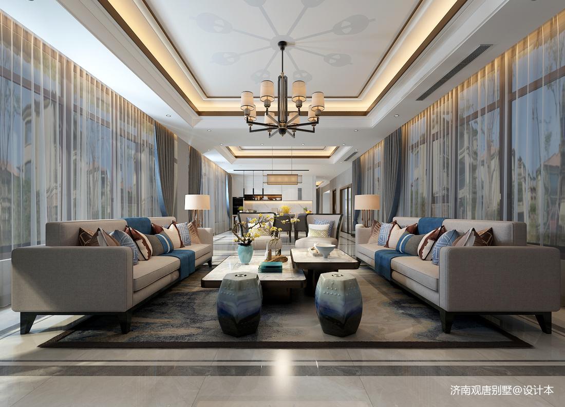 中式客厅窗帘颜色