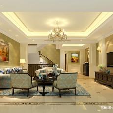 美式客厅电视墙装修图片