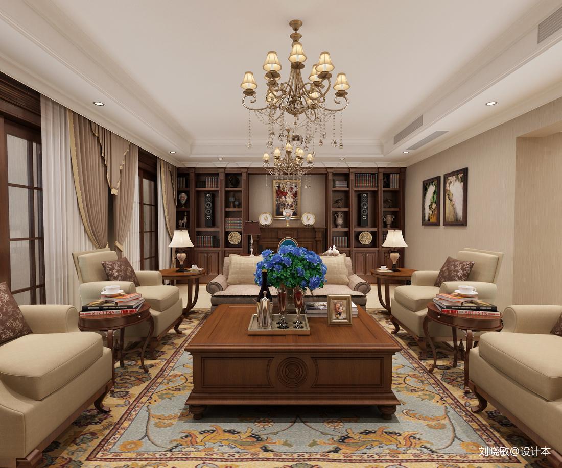 美式客廳地面拼花