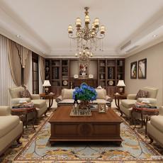 美式客厅地面拼花