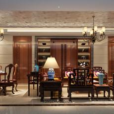 新中式设计客厅效果图