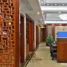 中式装修客厅玄关效果图