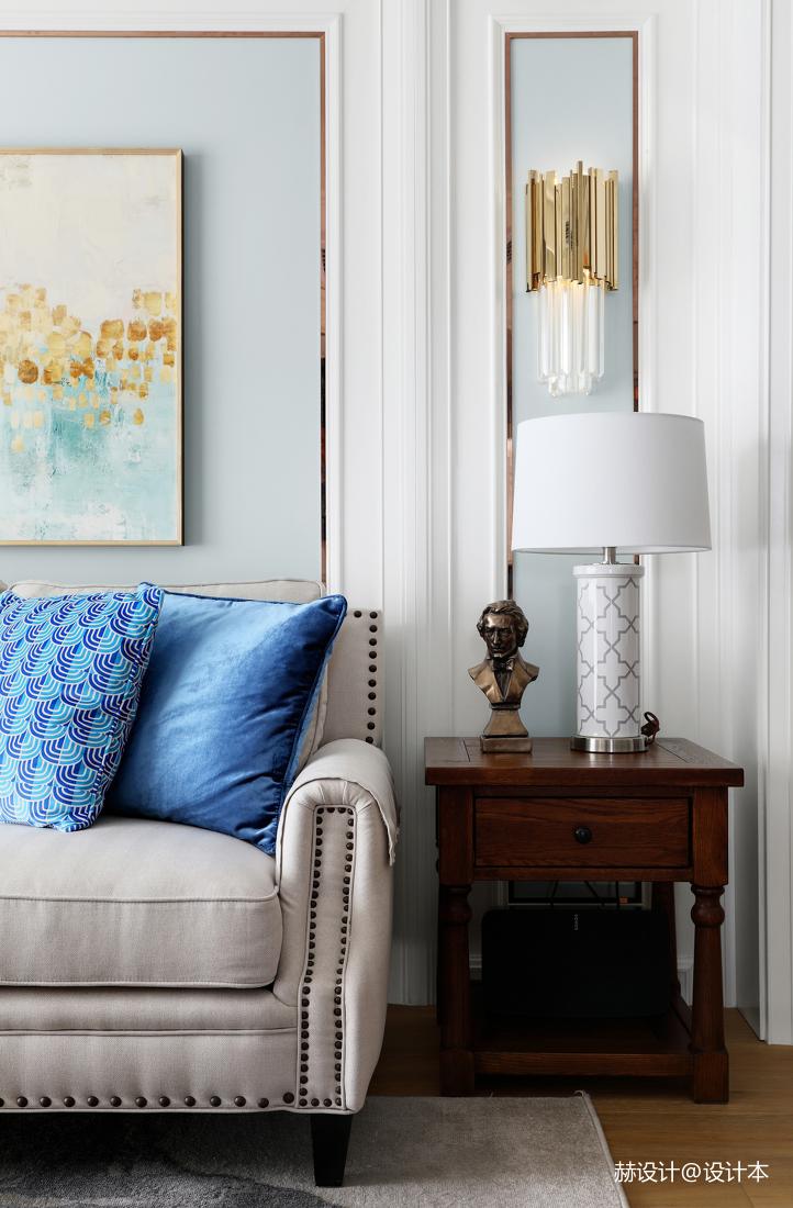华丽78平美式三居客厅设计美图