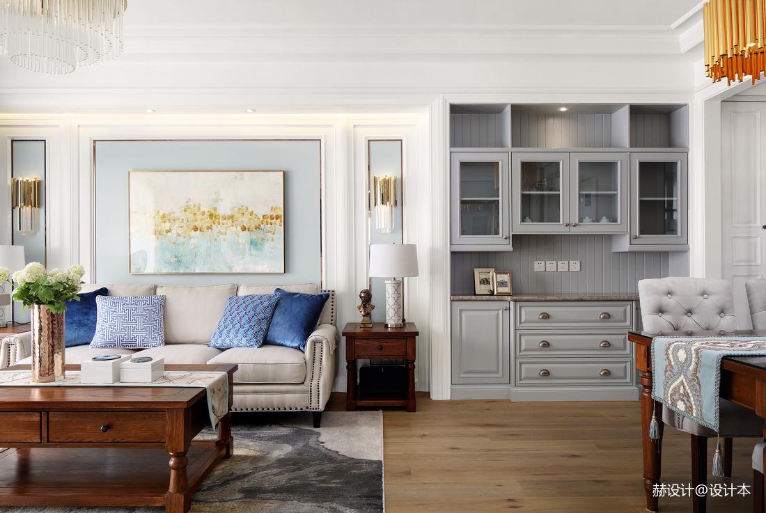 华丽110平美式三居客厅装修效果图