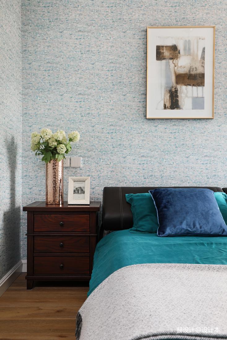 简洁96平美式三居卧室装修效果图