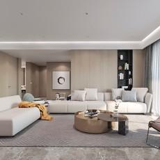 优雅155平现代四居客厅实景图片