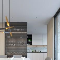 温馨150平现代四居厨房实景图片