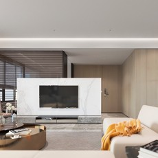 优美135平现代四居客厅设计案例