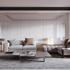 精美43平现代复式客厅实拍图