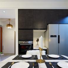 质朴127平现代三居餐厅装修美图