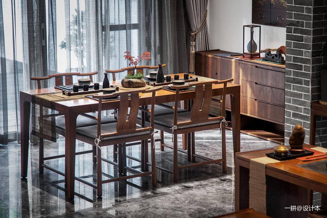 典雅898平中式别墅餐厅图片大全