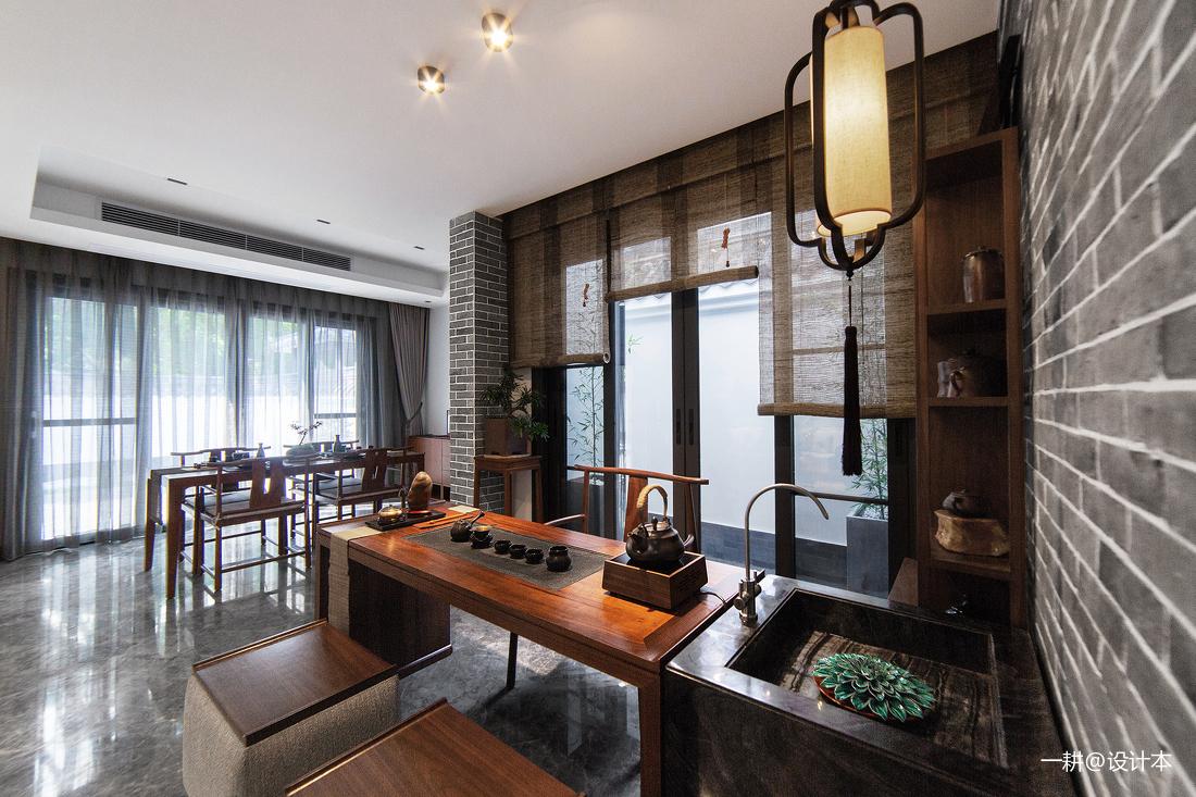轻奢569平中式别墅餐厅图片欣赏