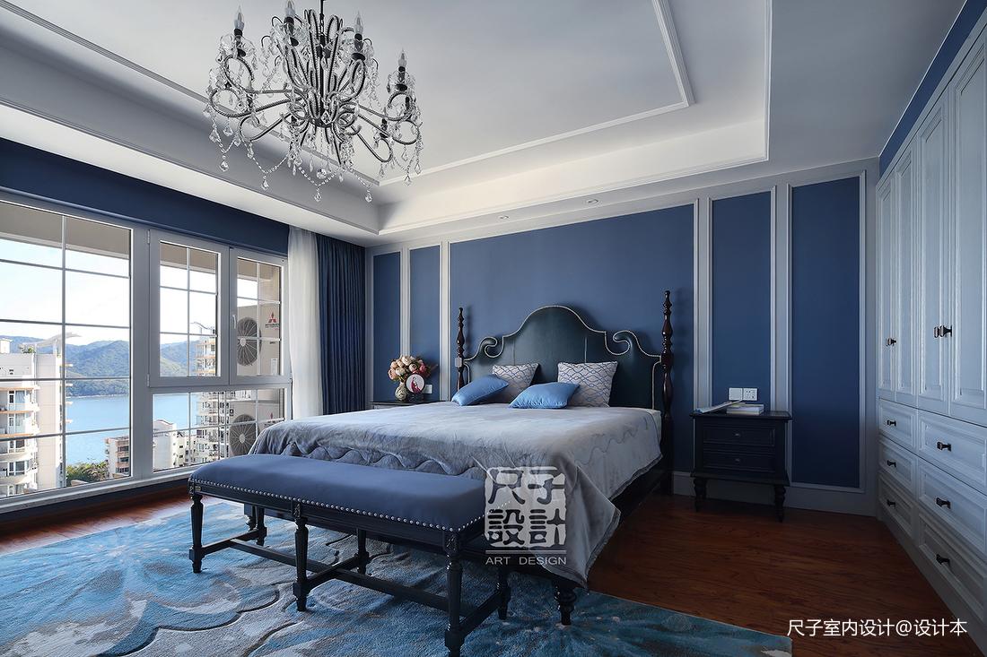 歐式【尺子室內設計】藍色郡城|道不盡的優雅與品質臥室設計