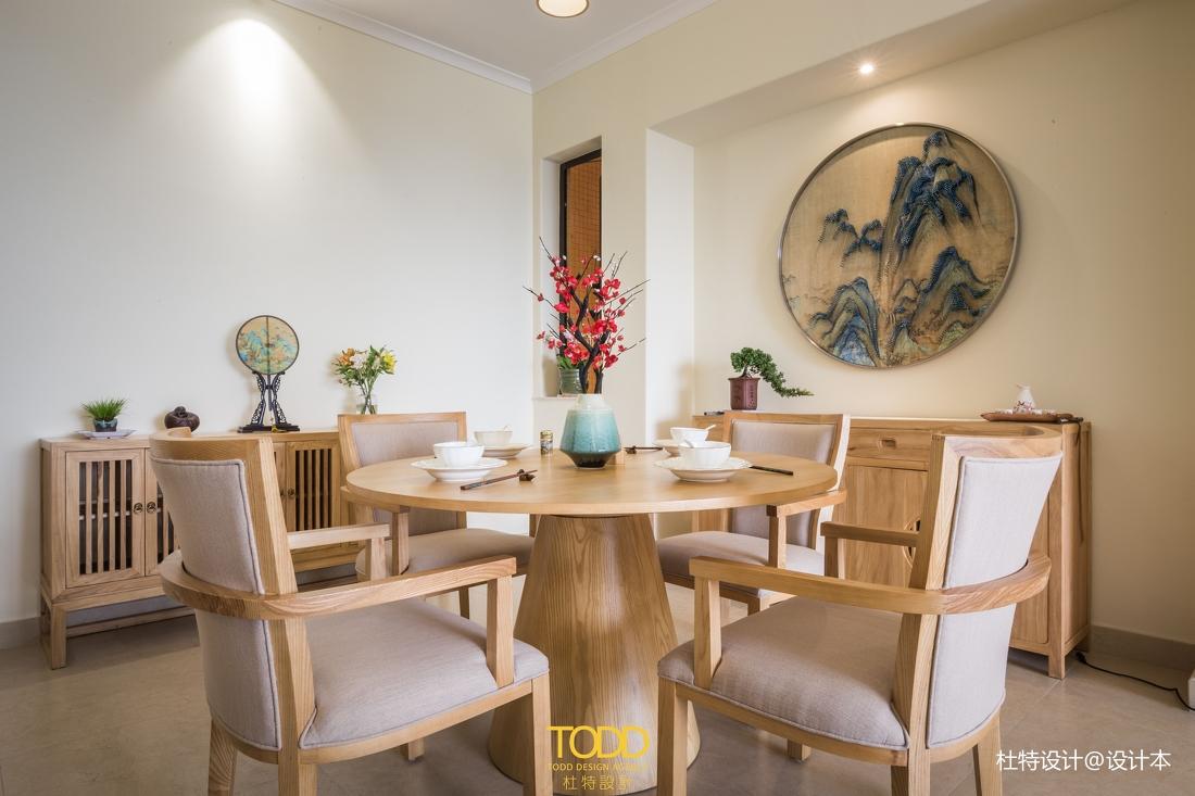 明亮119平中式三居餐厅实景图片