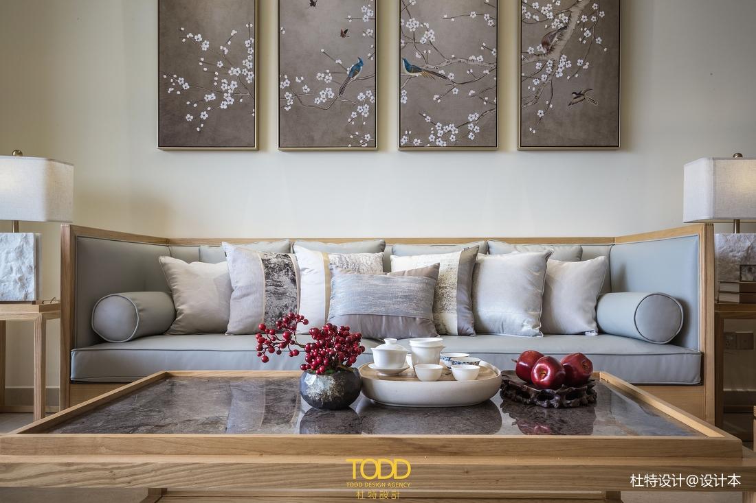优雅138平中式三居客厅装修图片