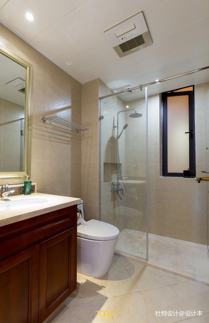 优美111平中式三居卫生间装潢图