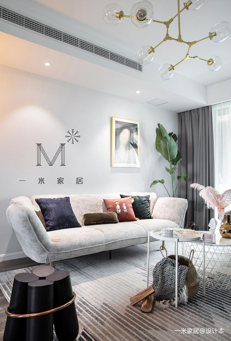 201968平简约二居客厅装修装饰图