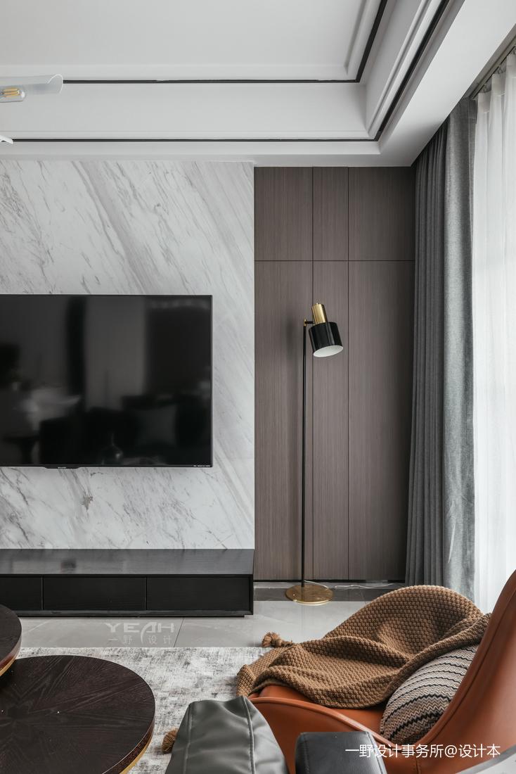 温馨49平简约复式客厅装饰图片