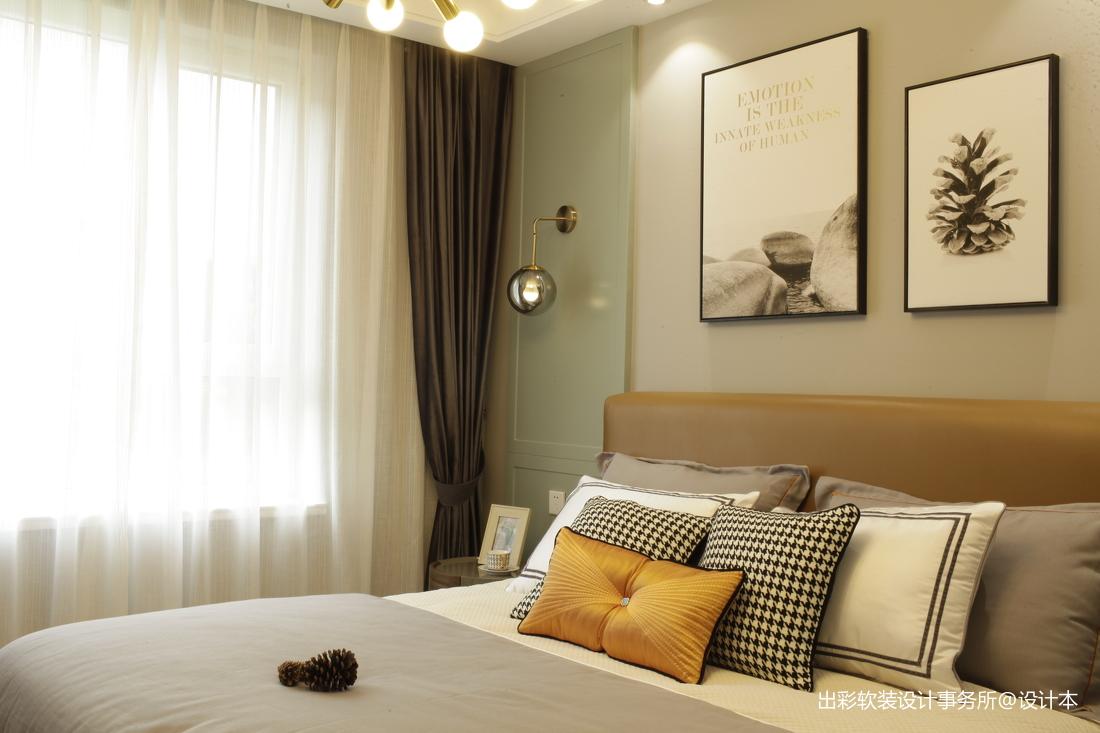 温馨268平北欧样板间卧室装饰图片