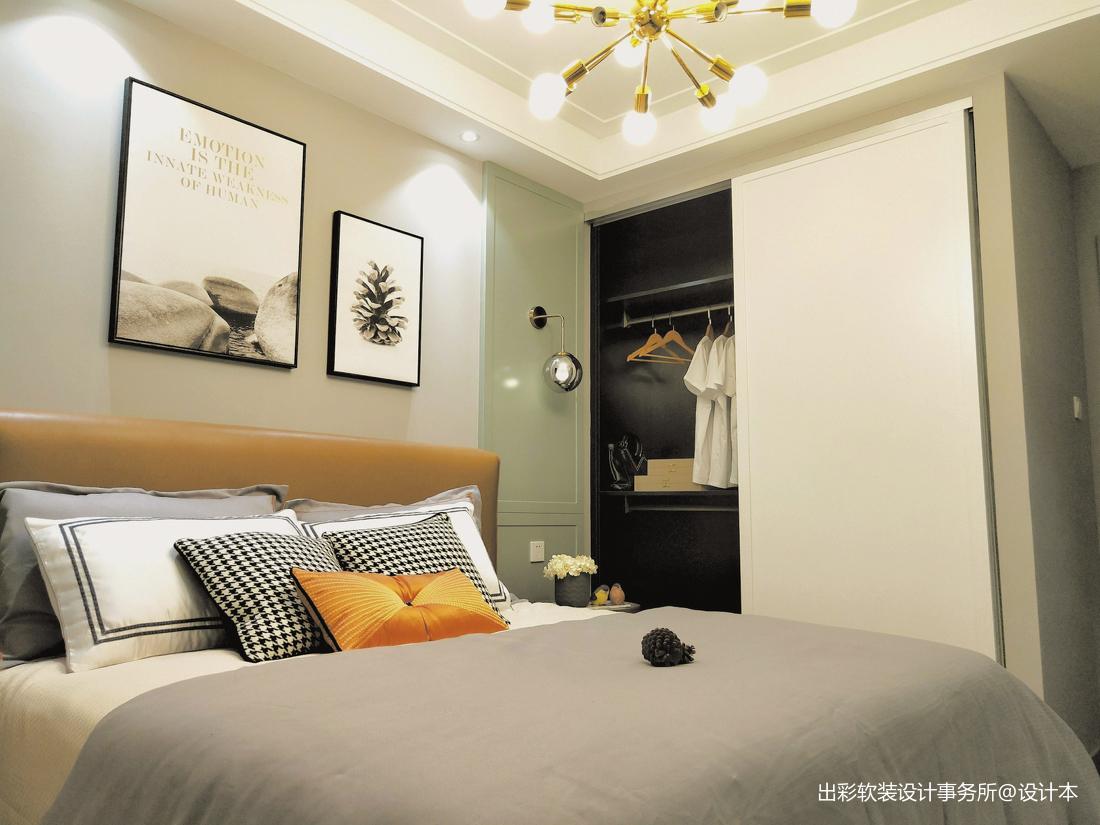 优美338平北欧样板间卧室装修设计图
