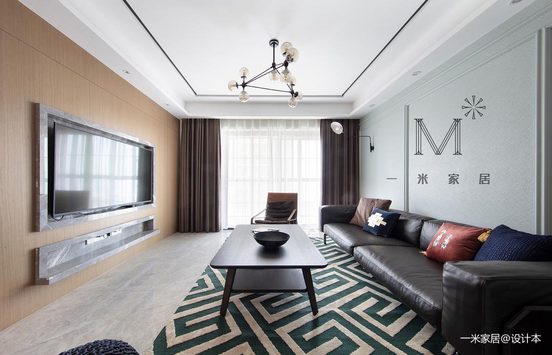 简洁93平现代三居装修装饰图