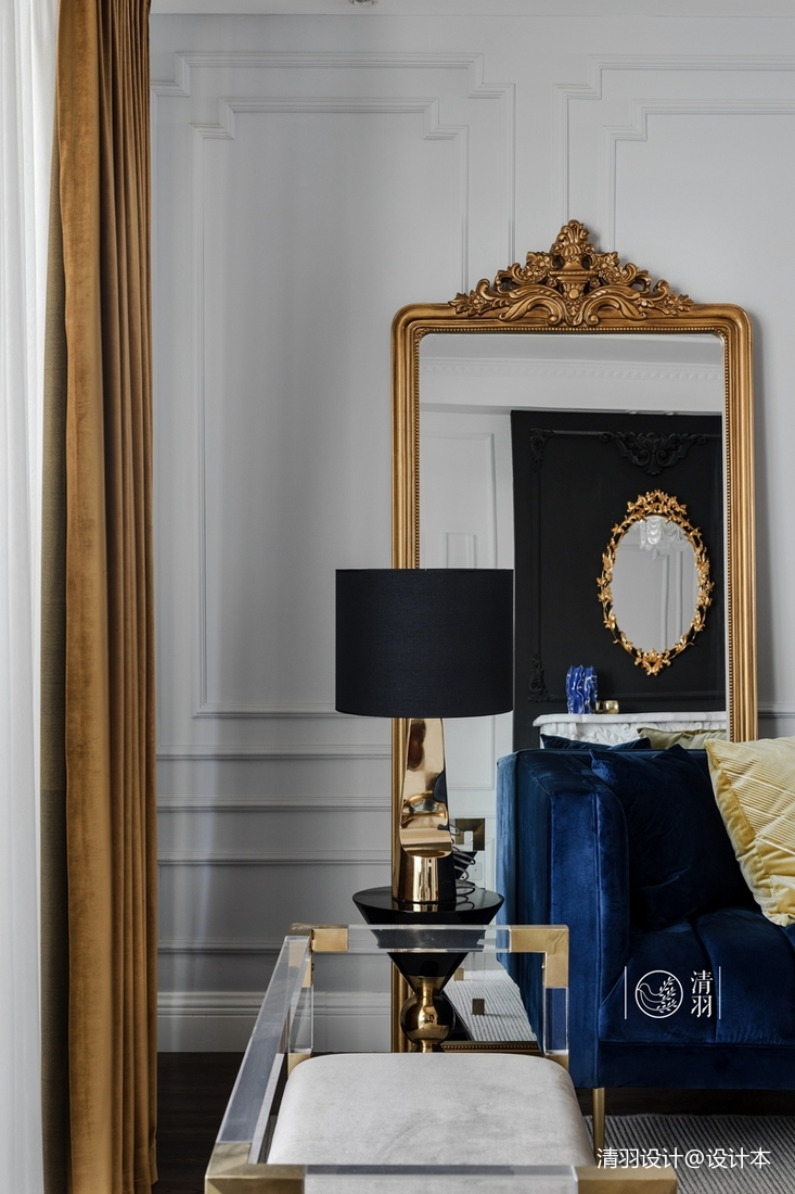 溫馨37平法式小戶型客廳設計美圖