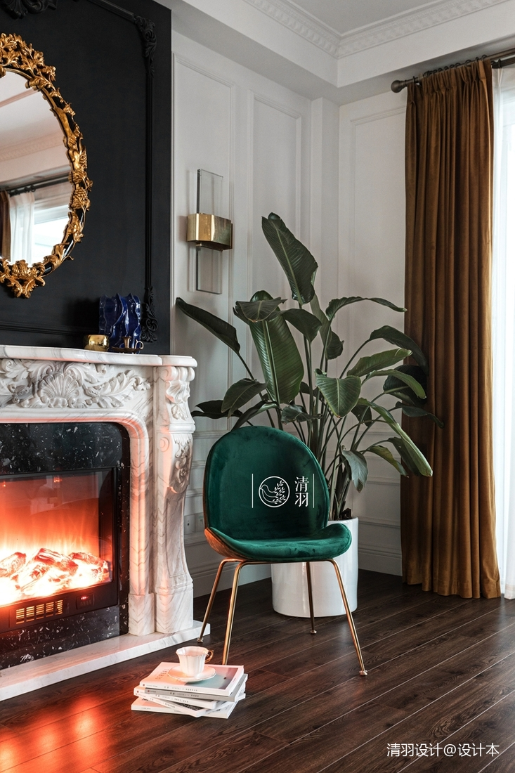 簡潔36平法式小戶型客廳設計案例