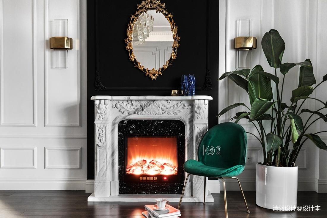 优美39平法式小户型客厅装修图
