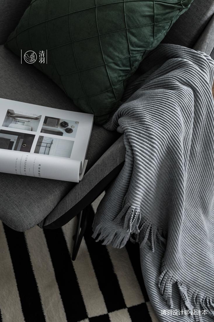 典雅21平法式小户型客厅装修设计图
