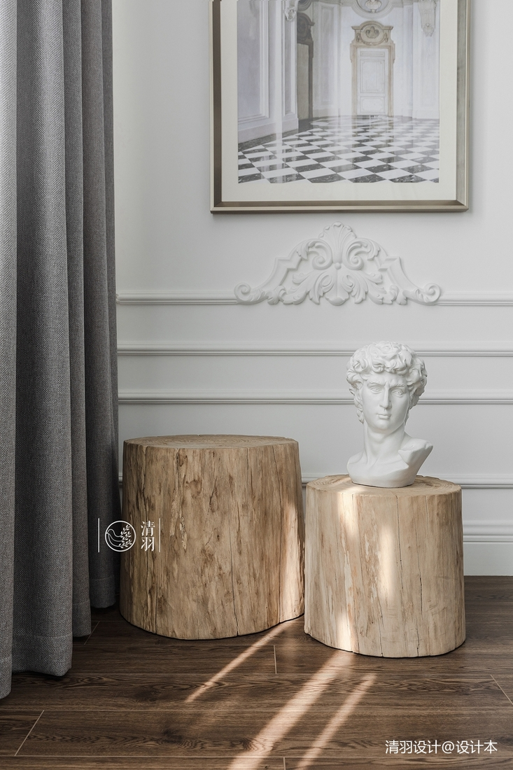 浪漫26平法式小戶型客廳裝修圖片