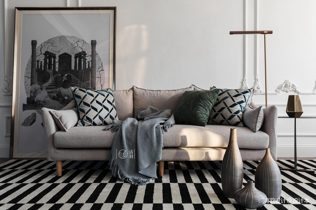 典雅37平法式小户型客厅美图