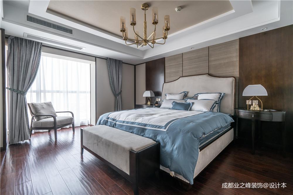 温馨891平中式别墅卧室装饰美图