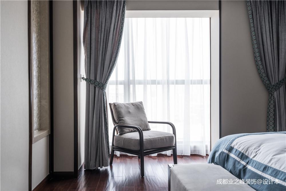 轻奢961平中式别墅卧室实景图