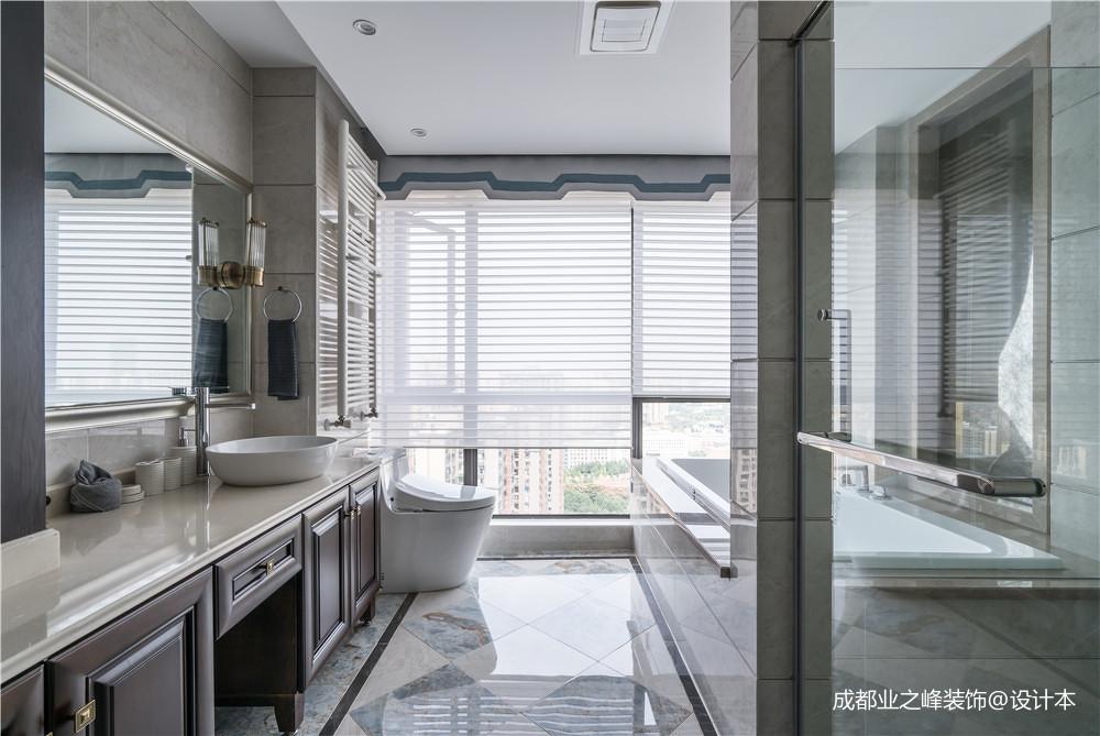 简洁966平中式别墅卫生间实拍图