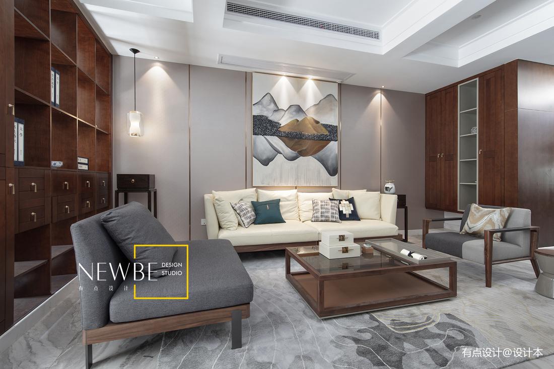 精美213平中式别墅客厅设计案例
