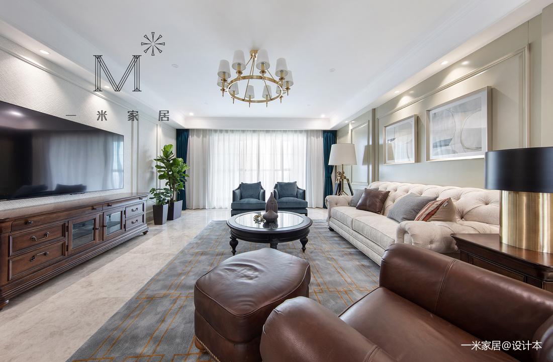 浪漫131平美式四居客厅装修美图