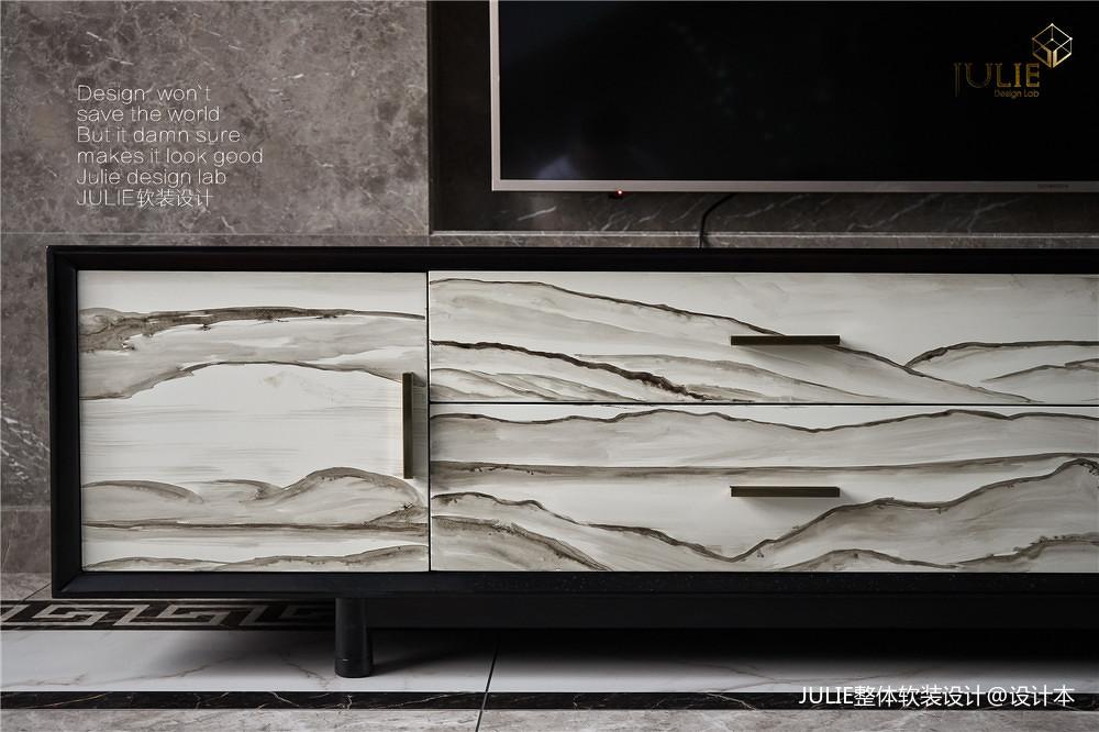 質樸926平中式別墅客廳裝修裝飾圖