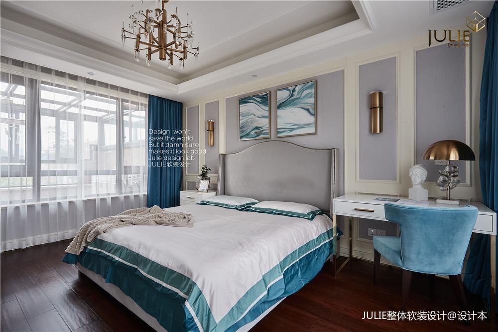 简洁609平美式别墅卧室实拍图