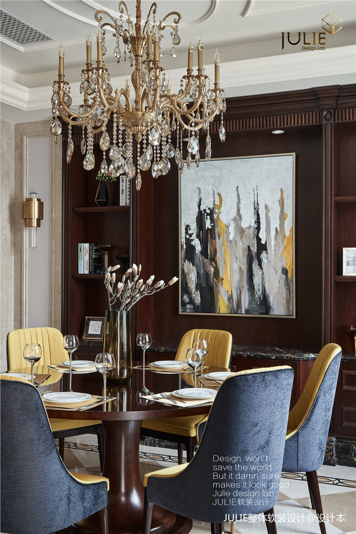 典雅703平美式别墅餐厅装修图片