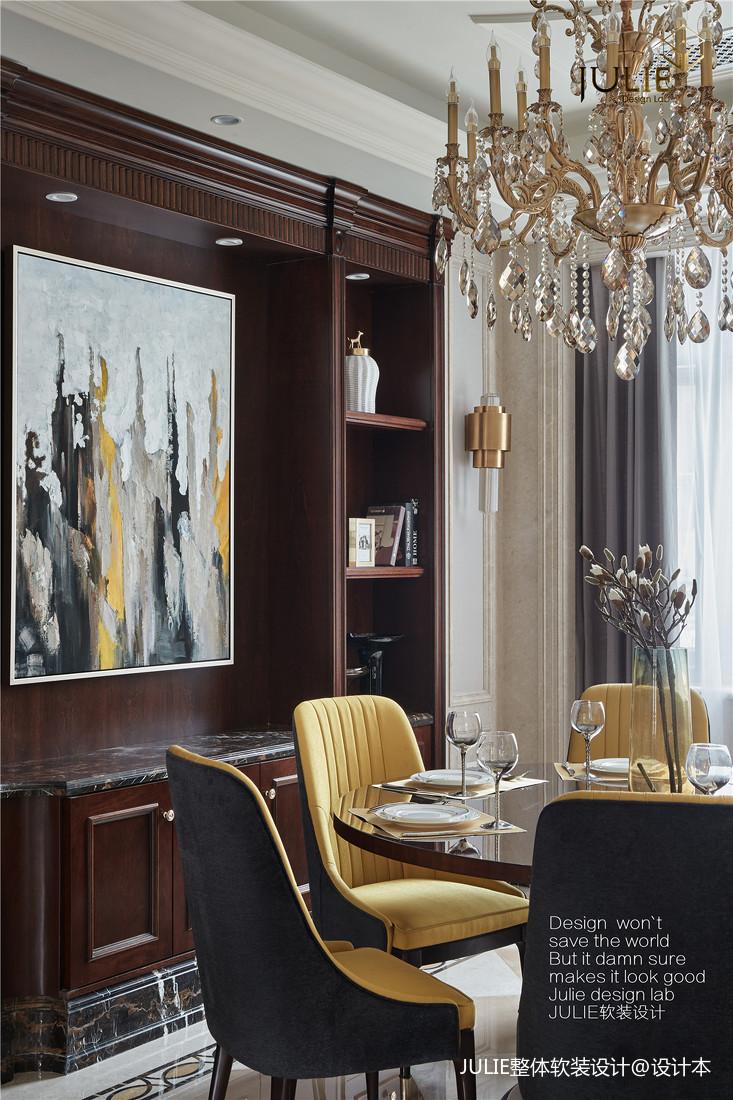 典雅420平美式别墅餐厅装修图