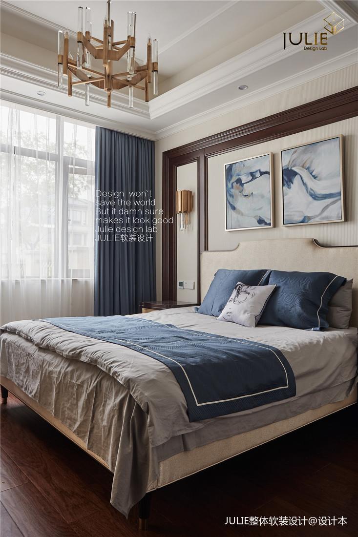 华丽953平美式别墅卧室设计图