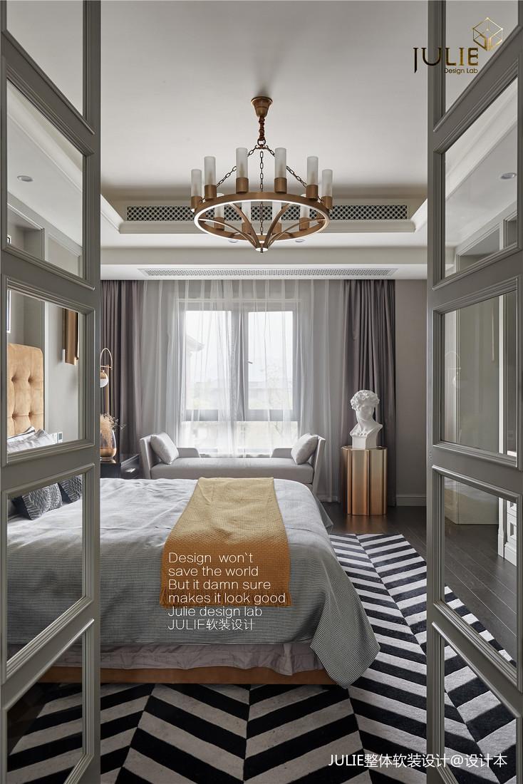 华丽338平美式别墅儿童房设计效果图
