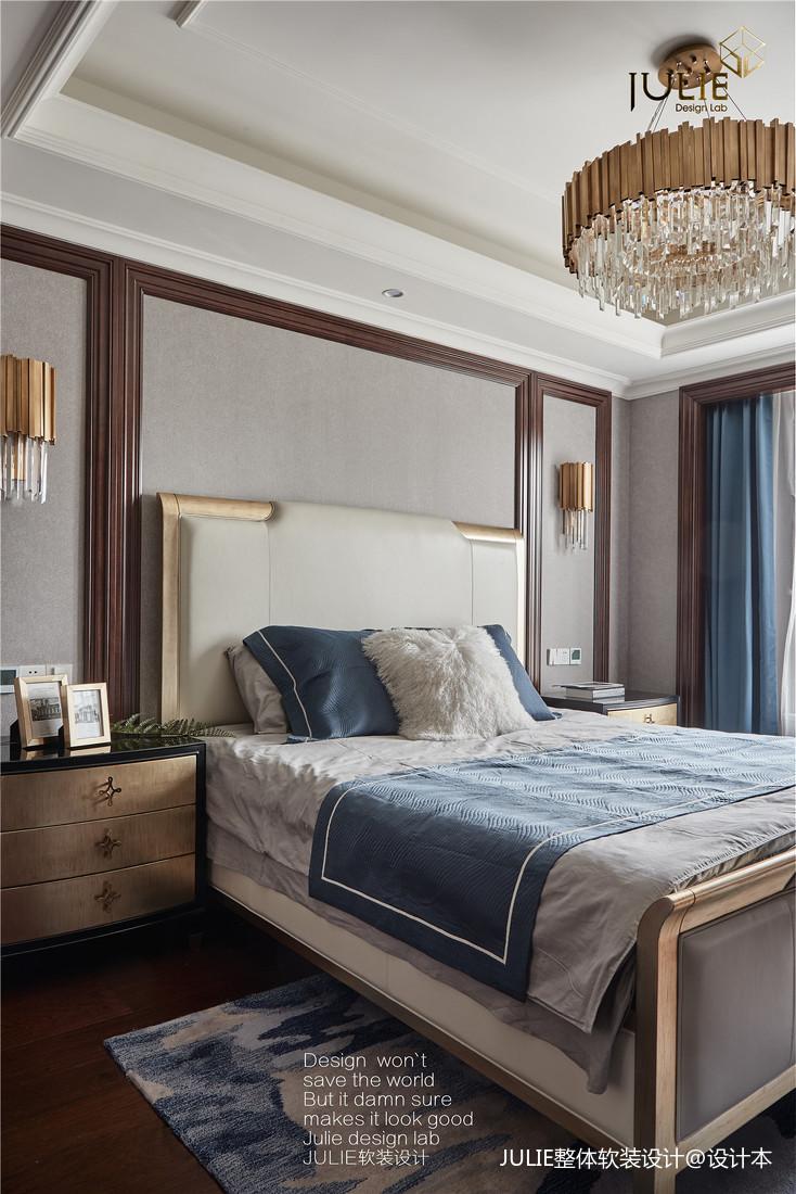 优美643平美式别墅卧室效果图