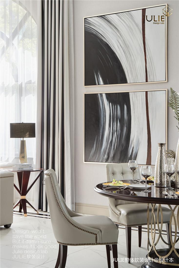 温馨715平现代别墅餐厅图片欣赏