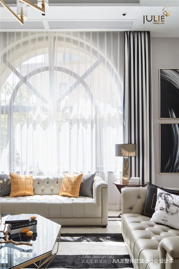 华丽989平现代别墅客厅装修案例