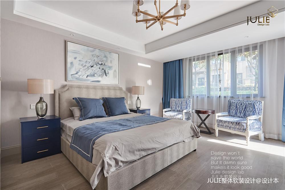 华丽750平现代别墅卧室实景图片