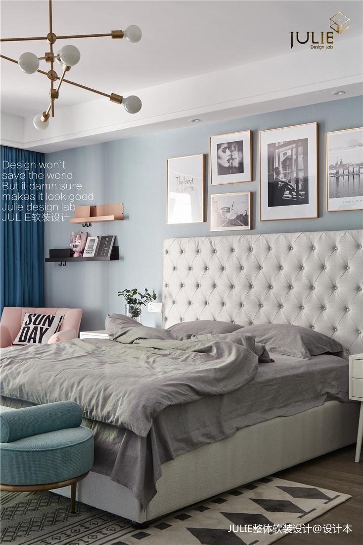 温馨543平现代别墅卧室装修图