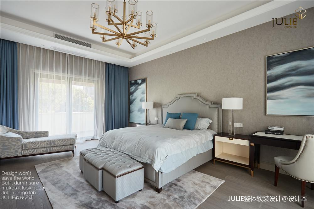 优美408平现代别墅卧室装修设计图